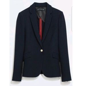 Zara Navy Fitted Jacket